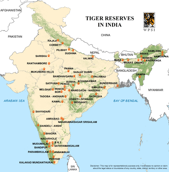WPSI - Wildlife Protection Society of India - Tiger Reserves India Map With on printable map of india, globe with india, map south africa, map the us, map south korea, map saudi arabia, business with india, map spain, map russia, map sri lanka, map japan, map southeast asia, game with india, map nigeria, map of india map, map of india landforms, map east africa, map singapore, map west asia, plain map of india,